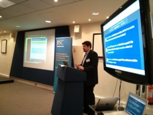Richard Entwhistle of Ingenius Solutions presents one of his xcri-cap demonstrator projects