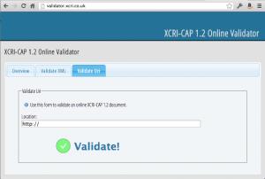 xcri -cap online validator